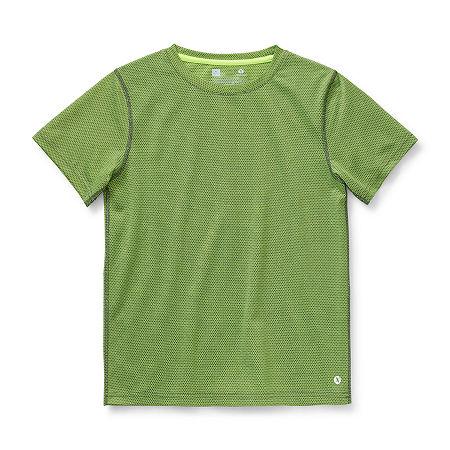 Xersion Little & Big Boys Short Sleeve T-Shirt, Medium (10-12) , Yellow