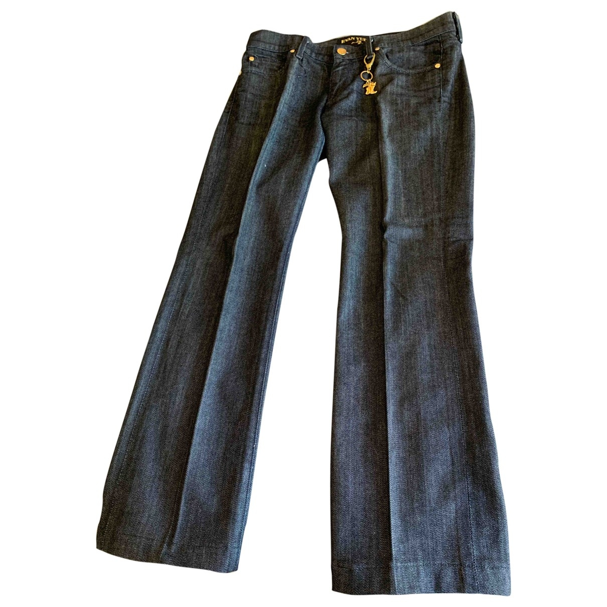 7 For All Mankind \N Blue Denim - Jeans Trousers for Women M International