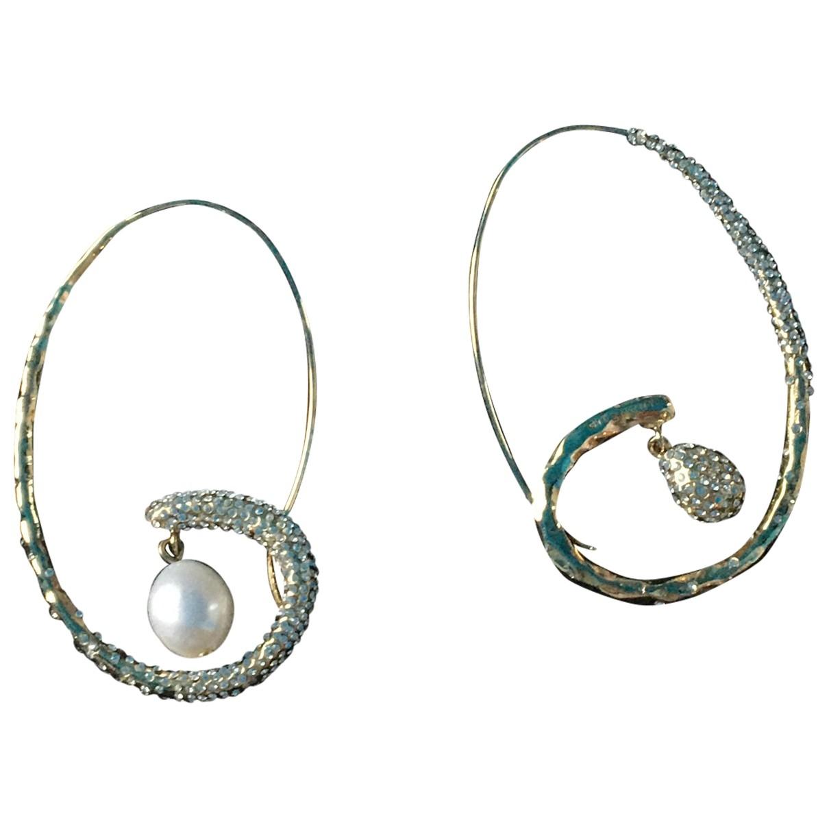 Givenchy - Boucles doreilles   pour femme en plaque or - dore