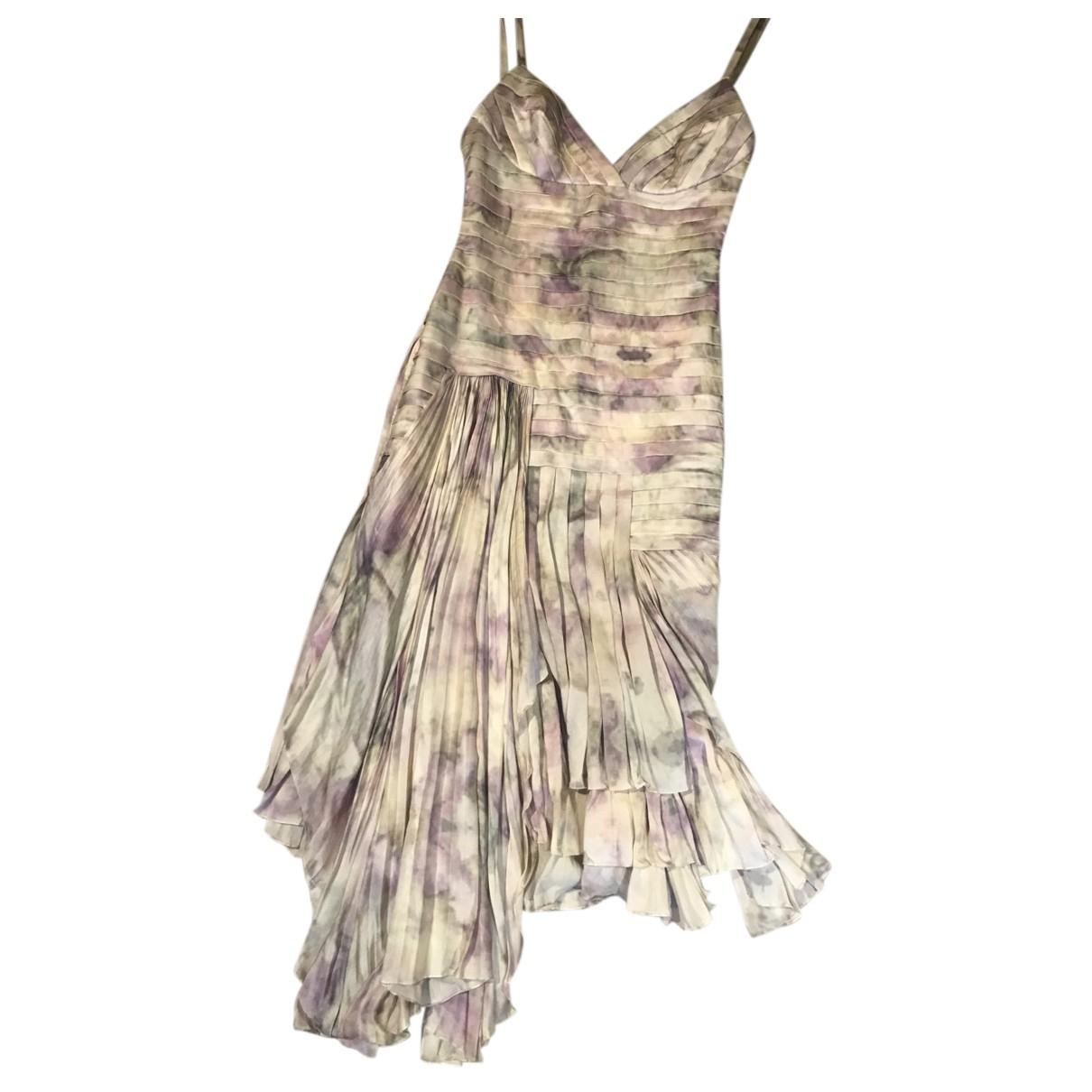Carlos Miele \N Kleid in  Beige Seide