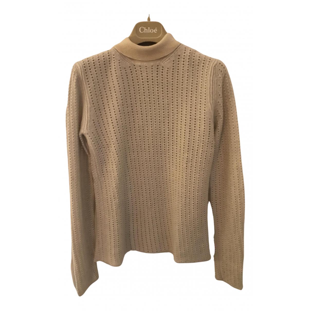 Chloe - Pull   pour femme en laine - beige