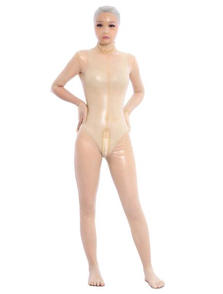 Milanoo Disfraz Halloween Sexy Transparente Latex Body Ojos Abiertos Unisex Zentai Halloween