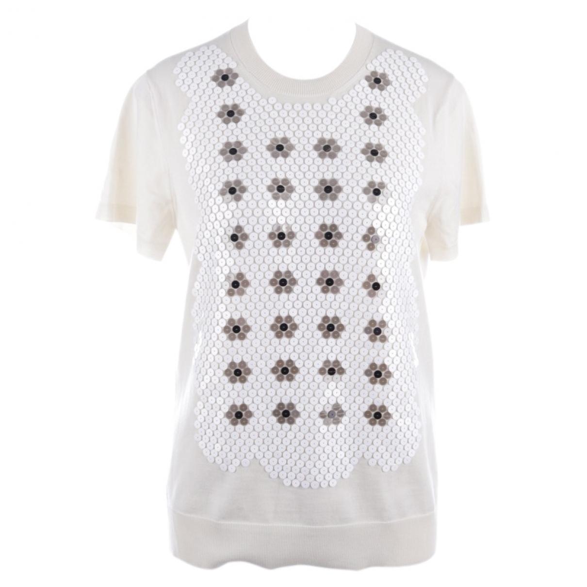 Louis Vuitton - Pull   pour femme en laine - ecru