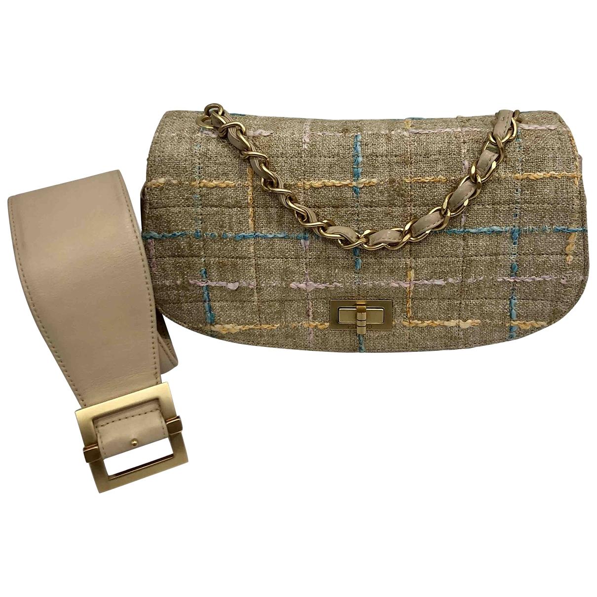 Chanel \N Beige Tweed handbag for Women \N