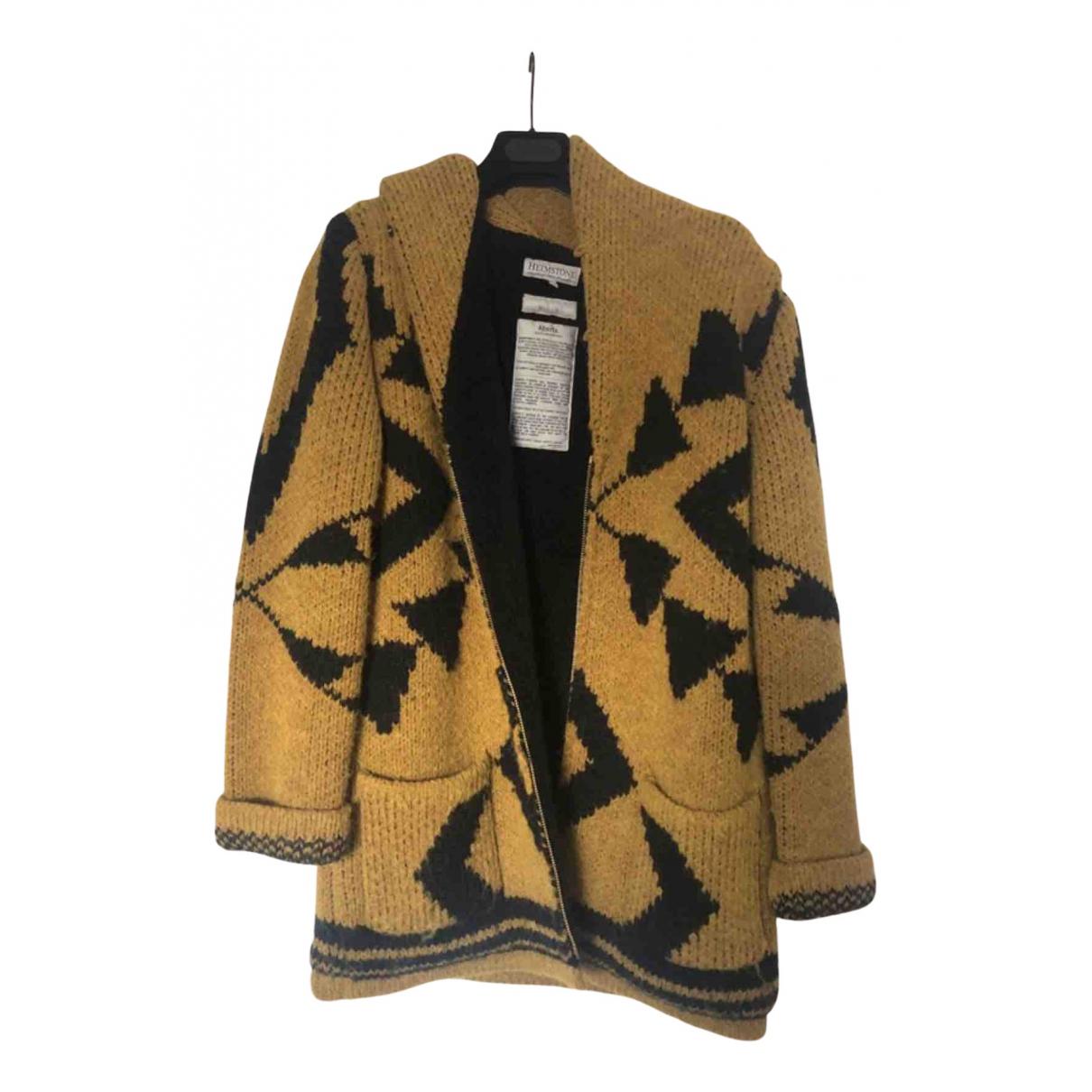 Heimstone - Manteau   pour femme en laine - jaune