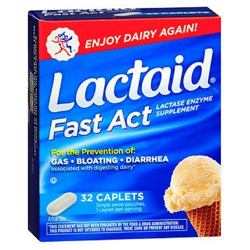 Lactaid Fast Action Caplets 32 caplets by Johnson & Johnson
