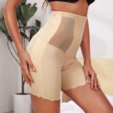 Shapewear Shorts mit Kontrast und Netzstoff
