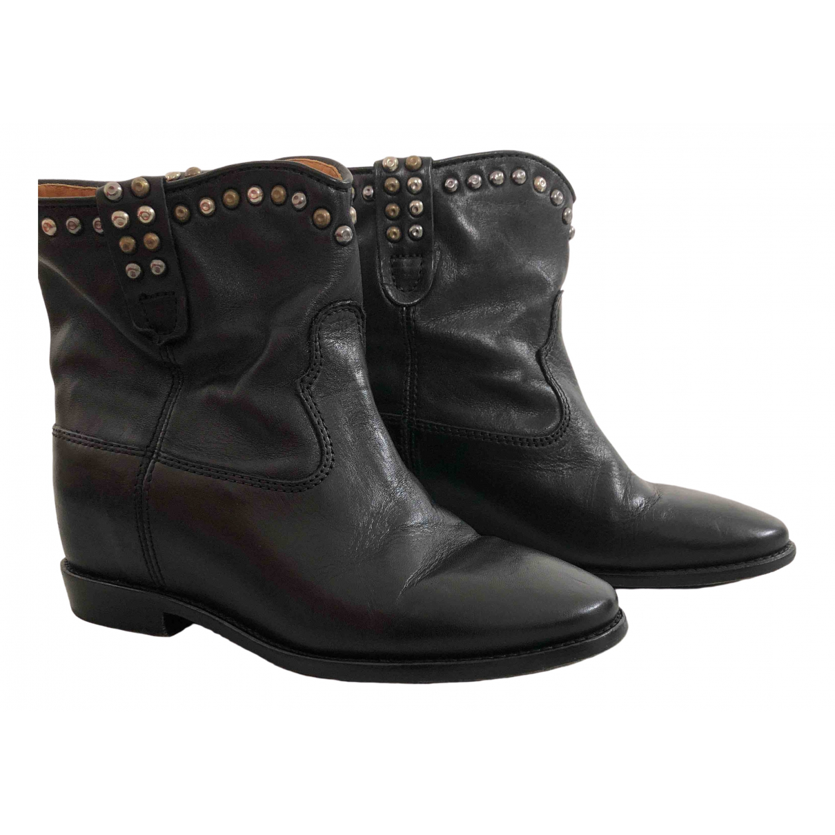 Isabel Marant Crisi  Black Leather Ankle boots for Women 36 EU