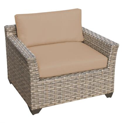 TKC015b-CC-WHEAT Monterey Club Chair with 2 Covers: Beige and