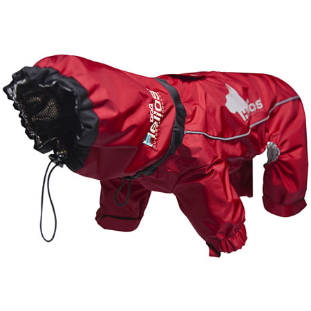 The Pet Life Helios Weather-King Ultimate Windproof Full Bodied Pet Jacket, One Size , Red