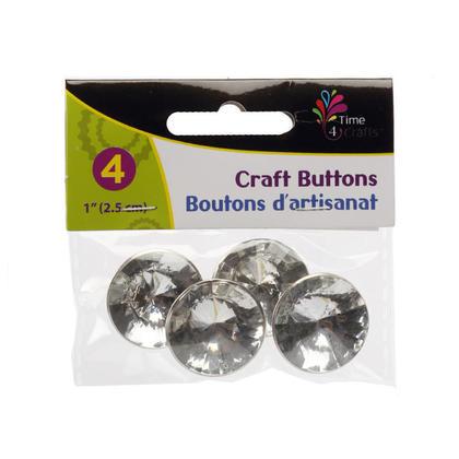 Boutons de métier pour coudre des métiers de bricolage, 1pouce, 4pcs - Time 4 Crafts