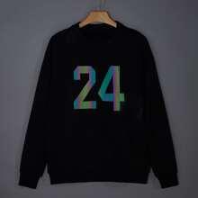 Men Number Iridescent Print Sweatshirt