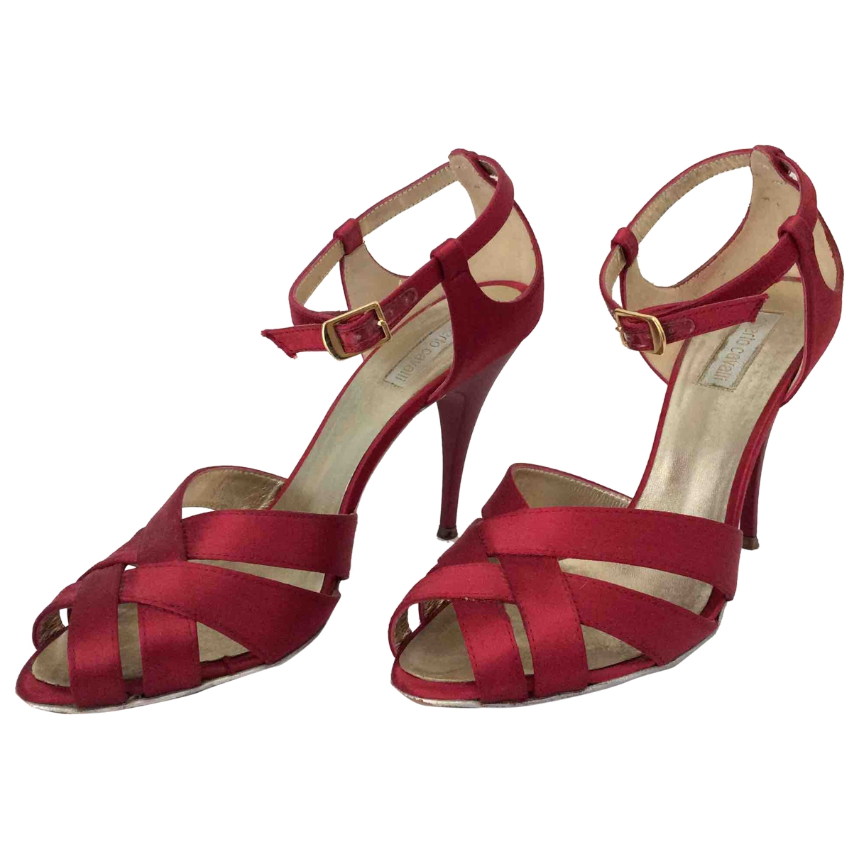 Roberto Cavalli \N Red Cloth Sandals for Women 36 EU
