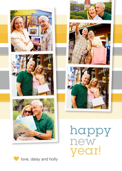 New Year's 5x7 Folded Cards, Standard Cardstock 85lb, Card & Stationery -Insta New Year