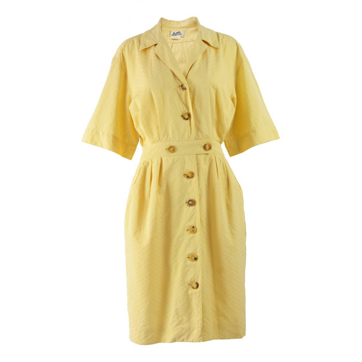 Hermès N Yellow Cotton dress for Women 42 FR