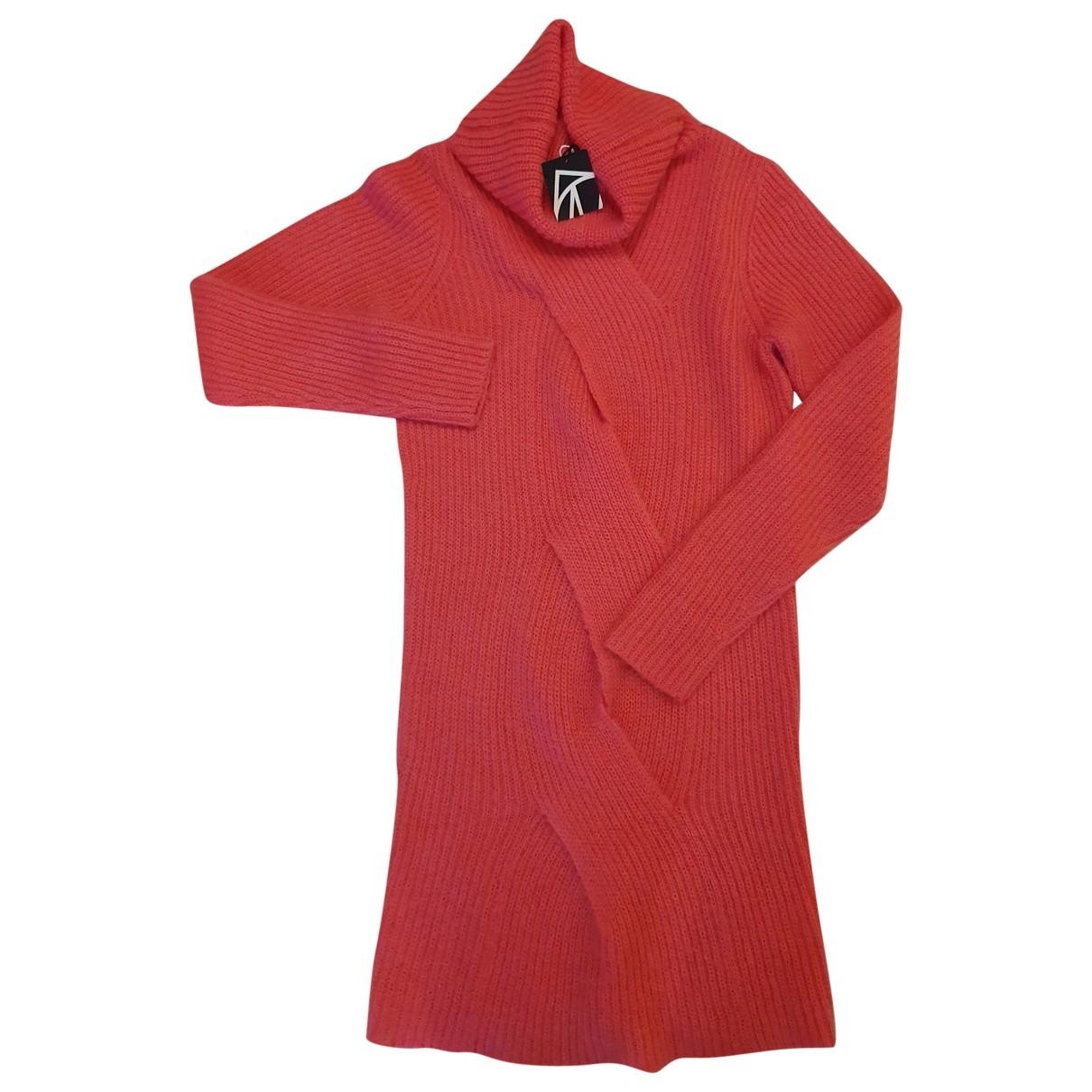 Designers Remix - Pull   pour femme en laine - rose