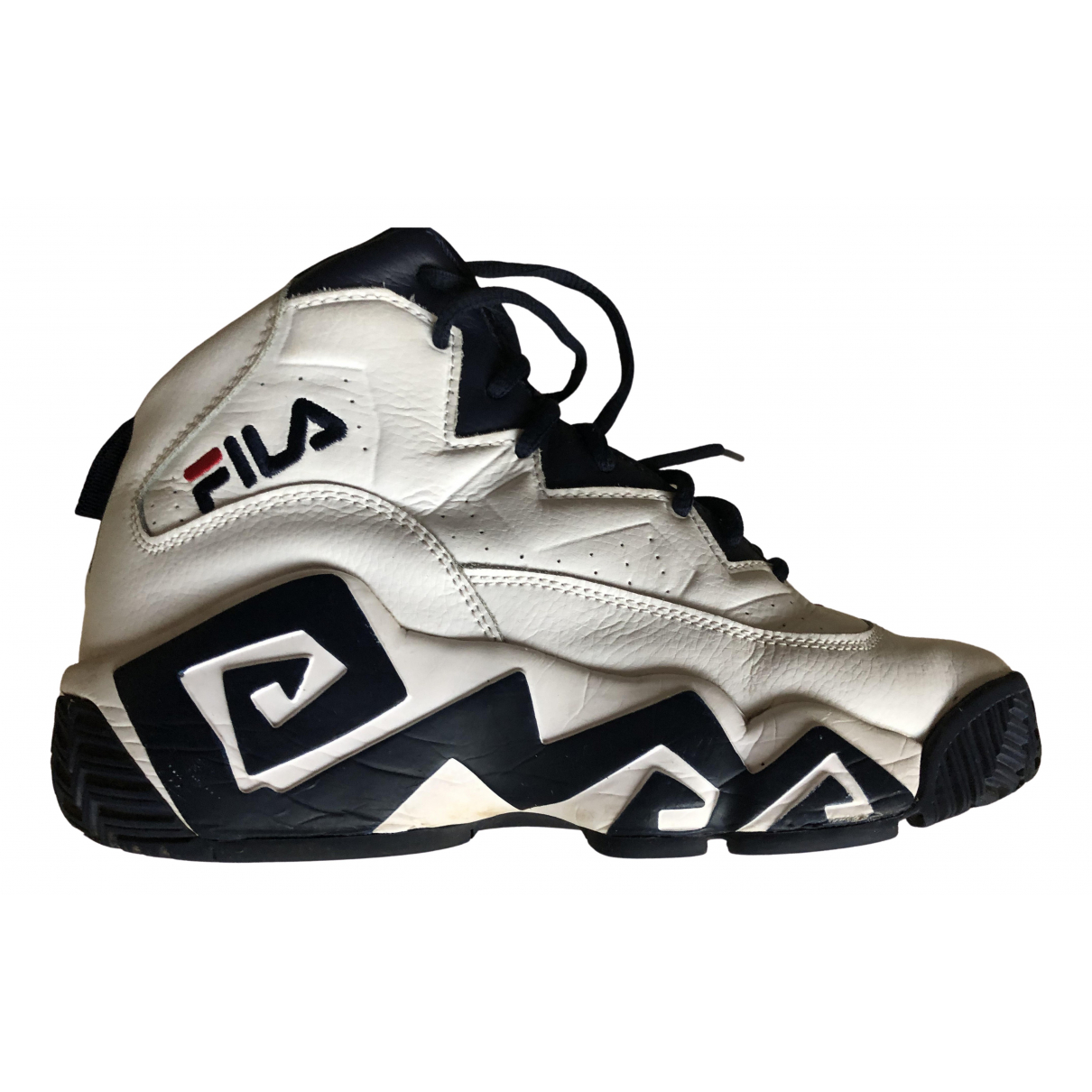 Fila N White Leather Trainers for Men 41 EU