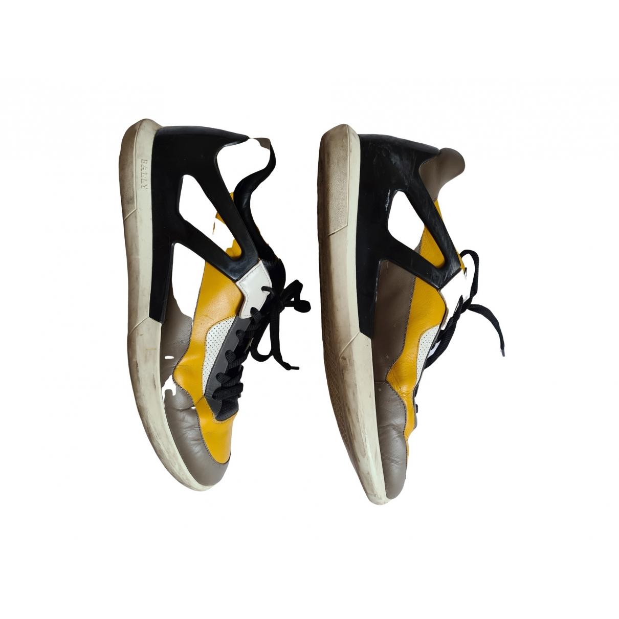 Bally - Baskets   pour homme en cuir - jaune