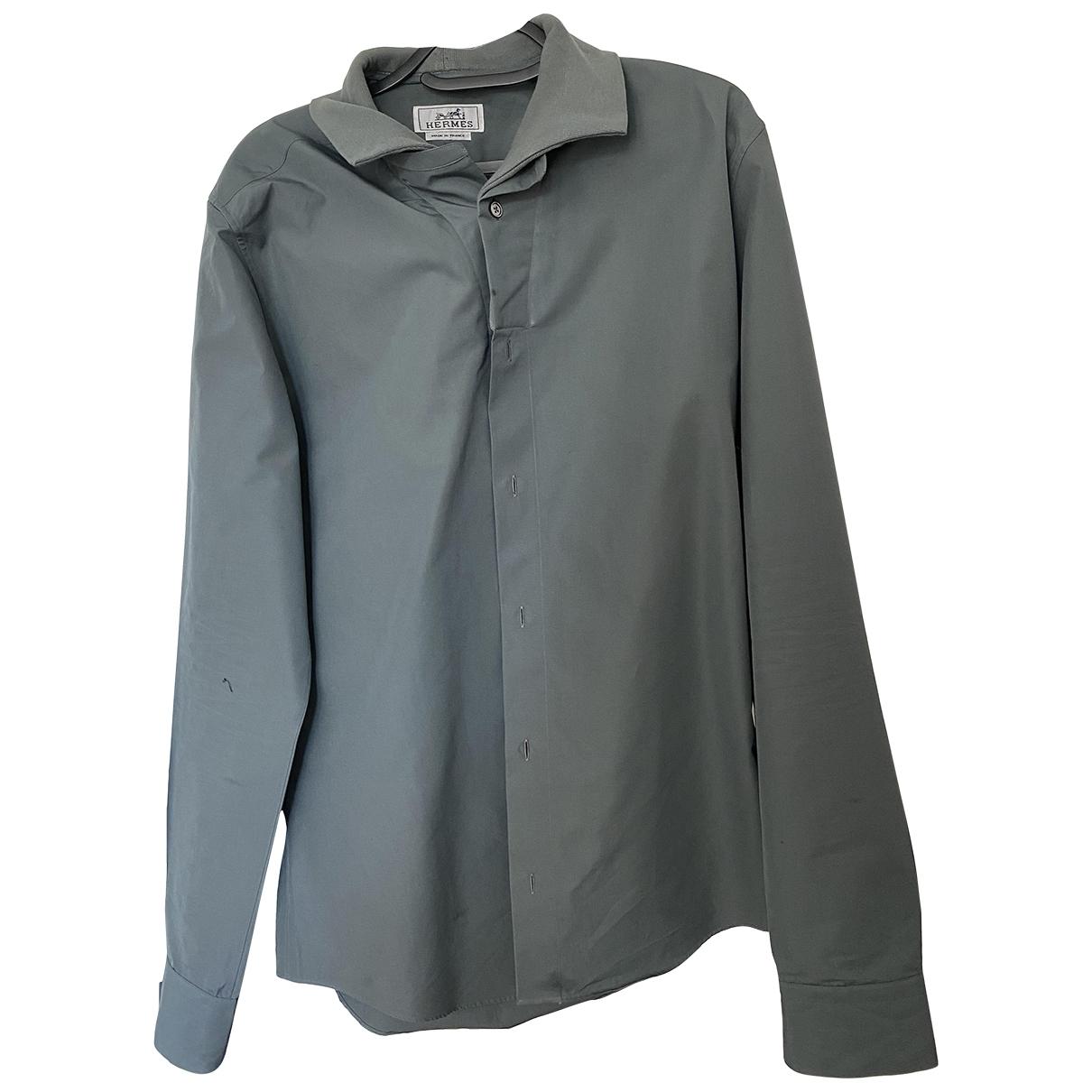 Hermes - Chemises   pour homme en coton - vert