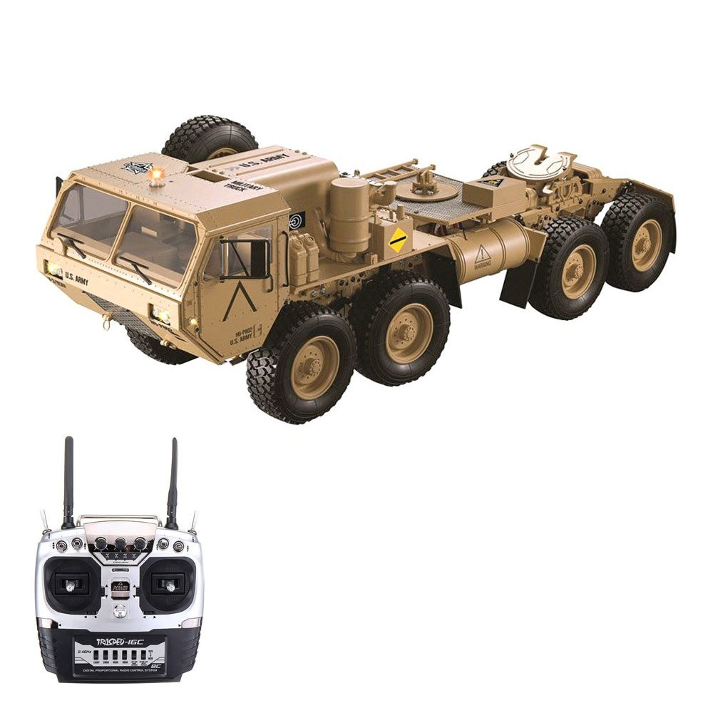 HG HG-P802 M983 Light Sound Function Version 2.4G 8CH 1:12 8x8 US Army Military Truck RC Car Without Battery Charger