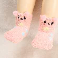 1 Paar Kleinkind Kinder Socken mit Karikatur Muster