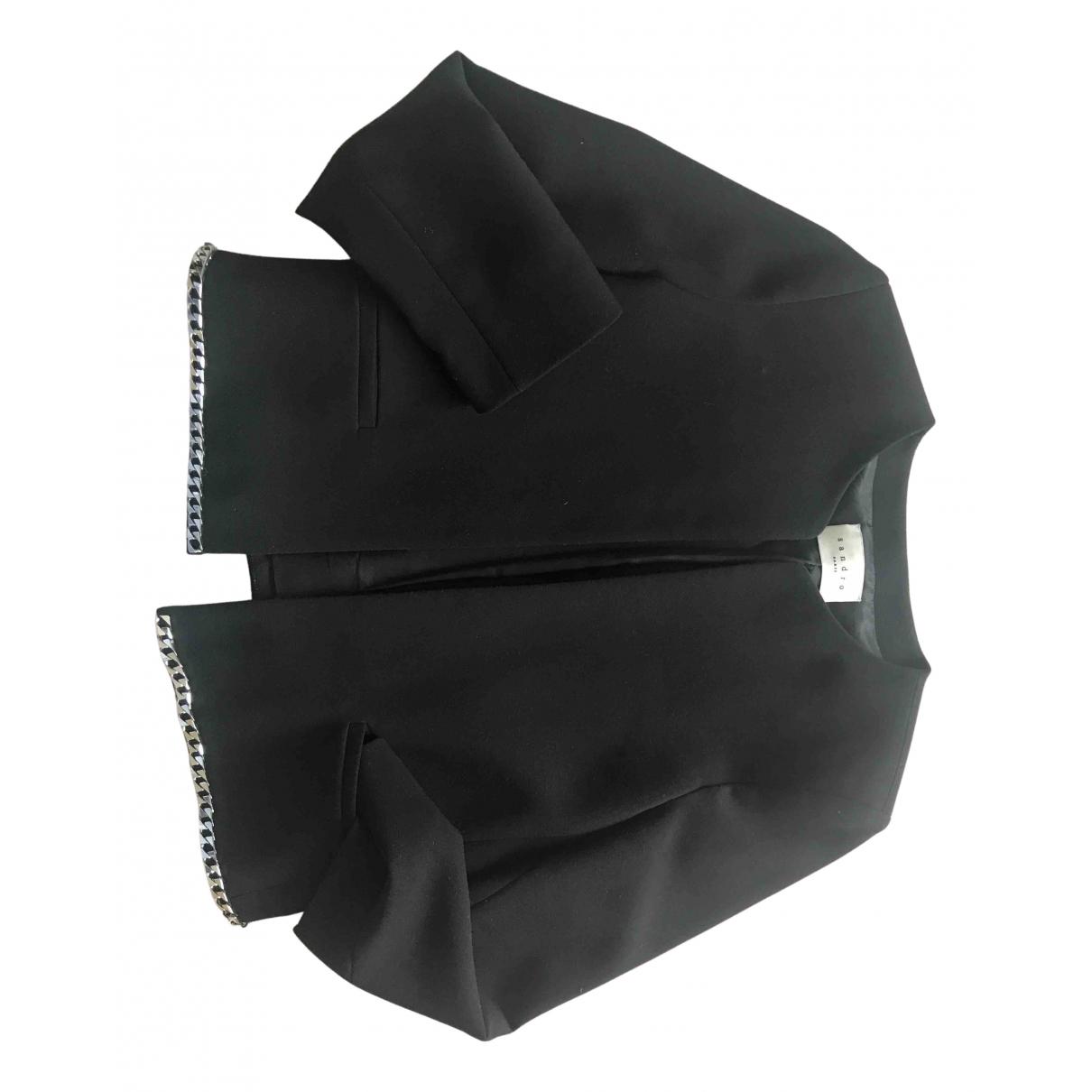 Sandro N Black jacket for Women 38 FR