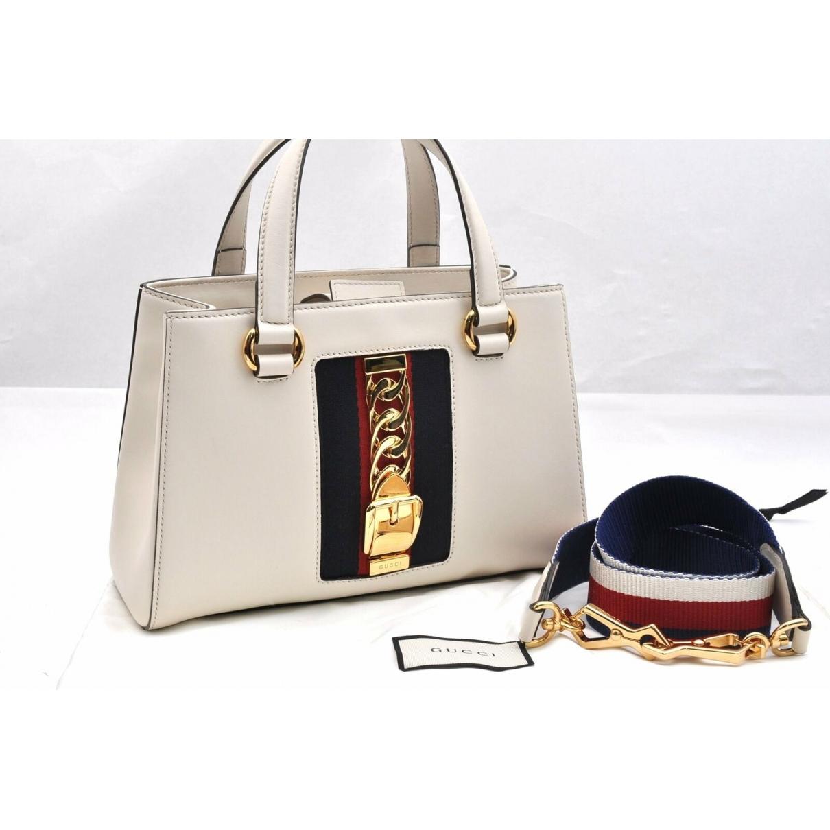 Gucci \N Handtasche in  Weiss Leder