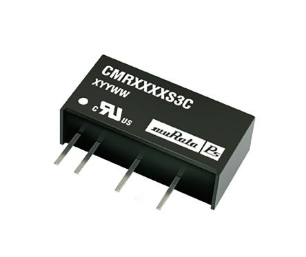 Murata Power Solutions CMR 0.75W Isolated DC-DC Converter Through Hole, Voltage in 10.8 → 13.2 V dc, Voltage out