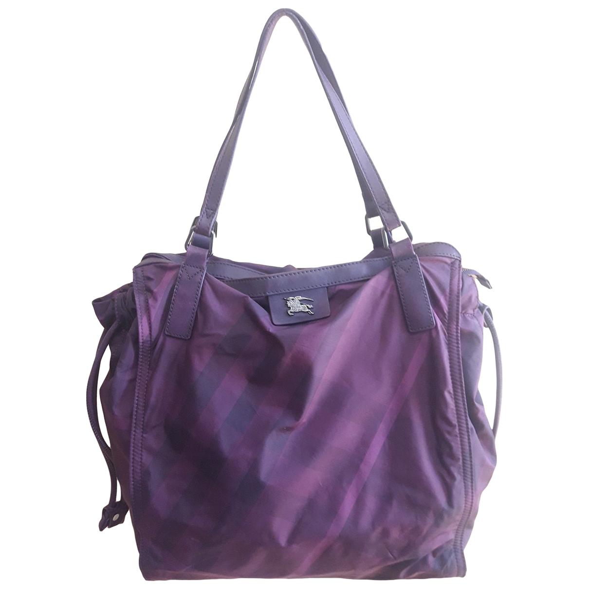 Burberry \N Handtasche in  Lila Leinen