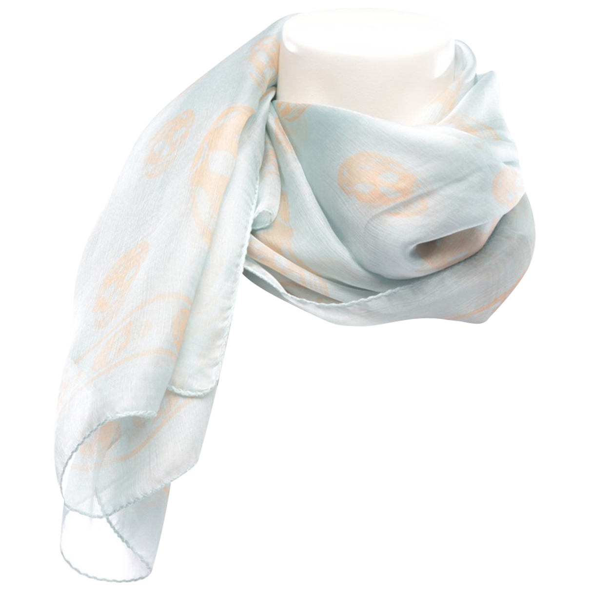 Alexander Mcqueen N Blue Silk scarf for Women N