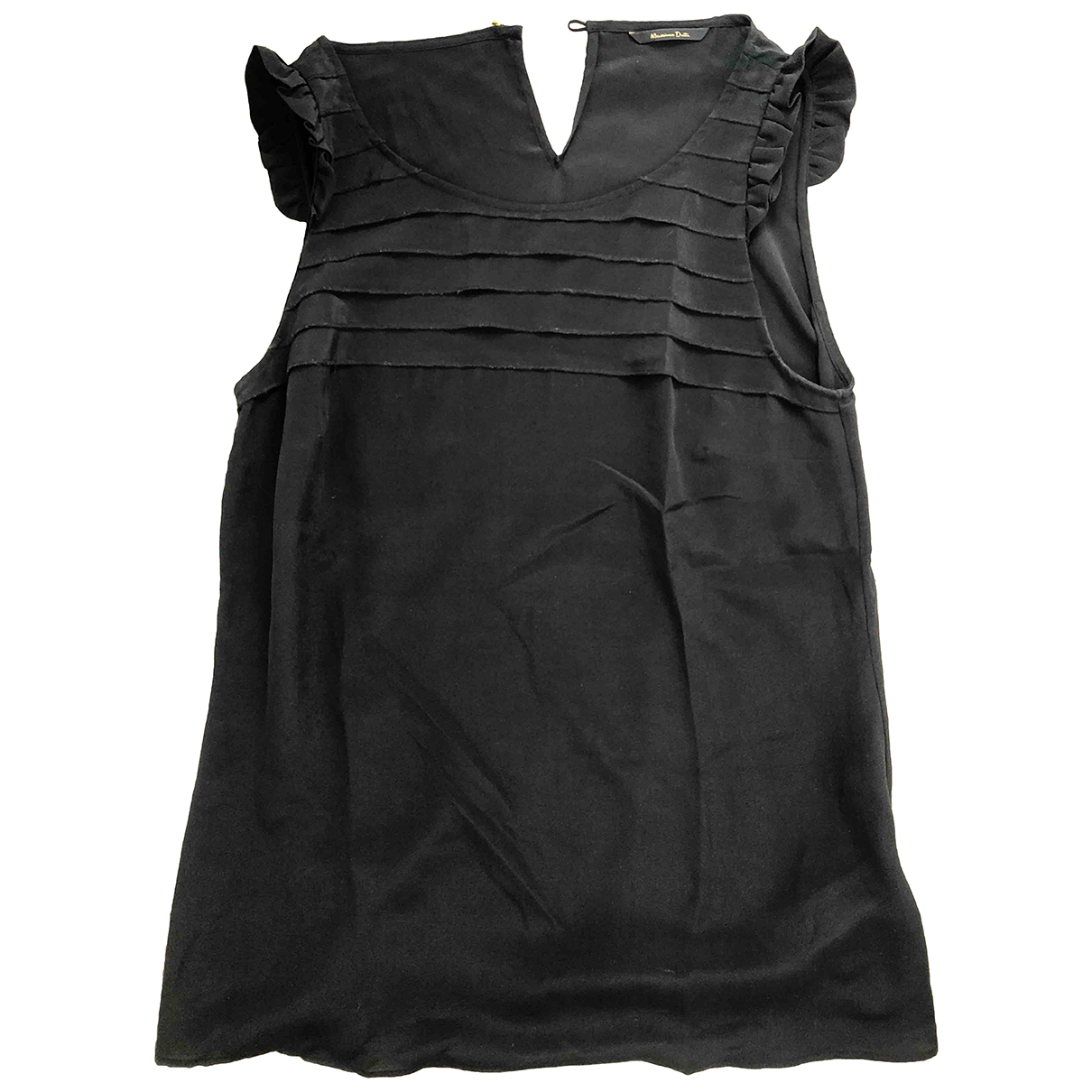 Massimo Dutti - Top   pour femme en soie - noir