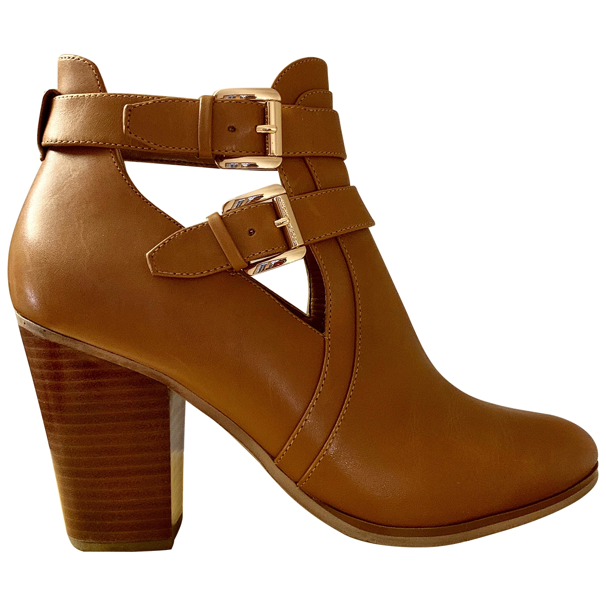 Michael Kors \N Camel Leather Ankle boots for Women 41 EU