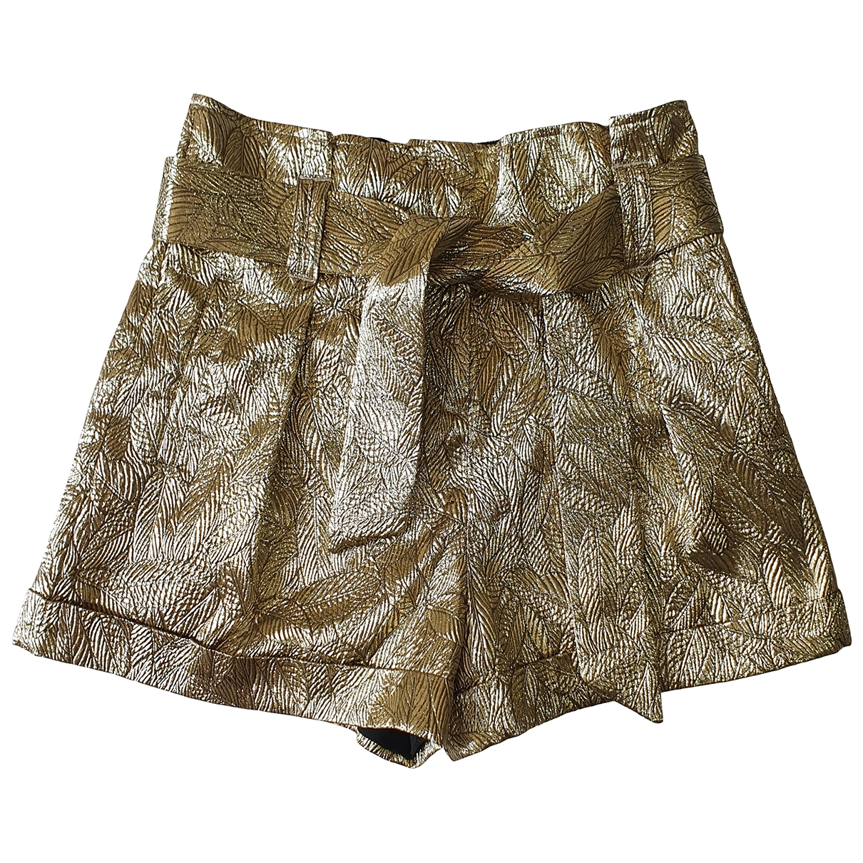 Sezane Spring Summer 2020 Shorts in  Gold Synthetik