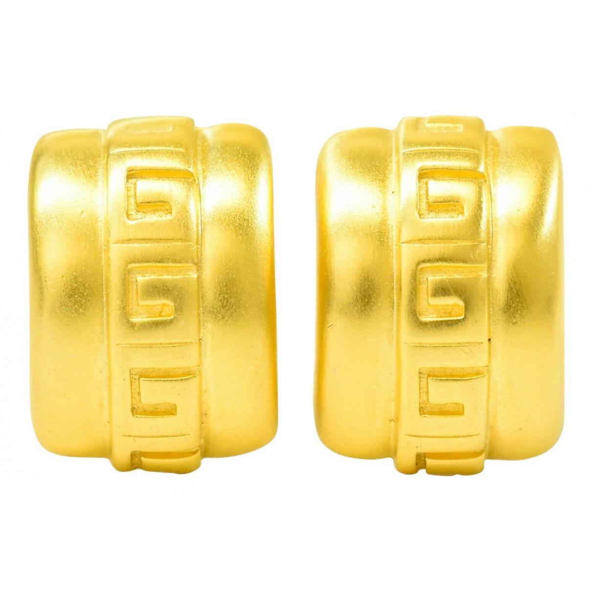 Givenchy - Boucles doreilles   pour femme en metal - dore