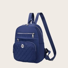Quilted Pocket Front Backpack