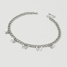 Halskette mit Schmetterling und Quasten Anhaenger
