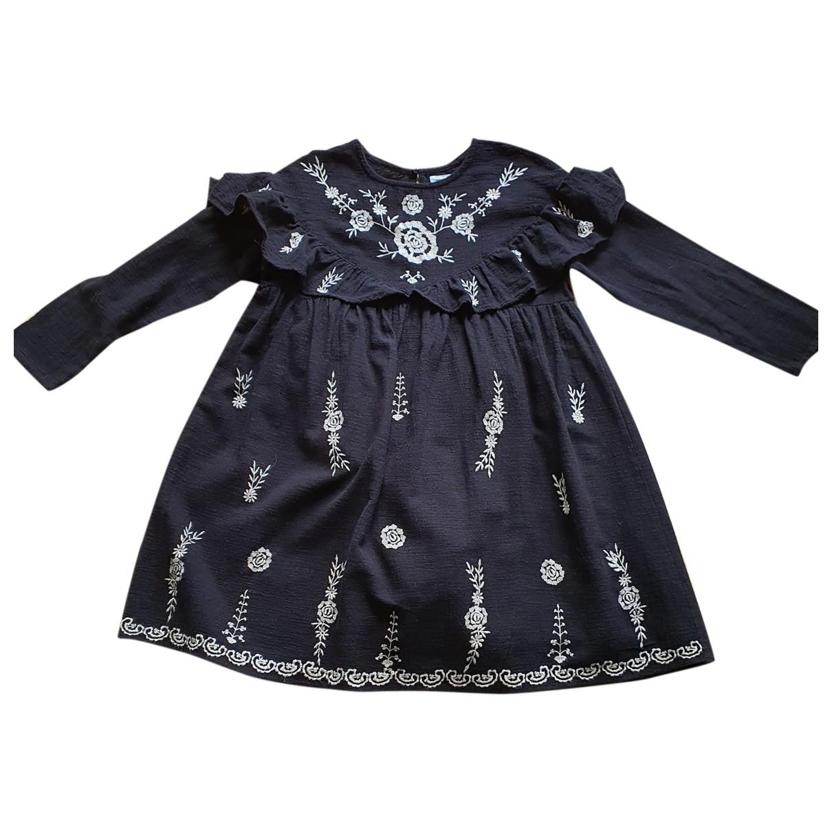 Zara \N Black Cotton dress for Kids 10 years - up to 142cm FR