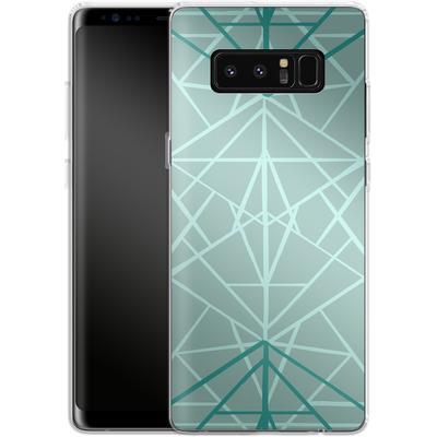 Samsung Galaxy Note 8 Silikon Handyhuelle - Geometric Sketches 3 von Mareike Bohmer