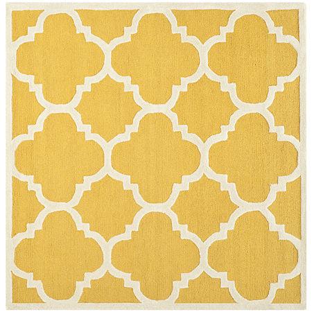 Safavieh Roger Geometric Hand Tufted Wool Rug, One Size , Yellow