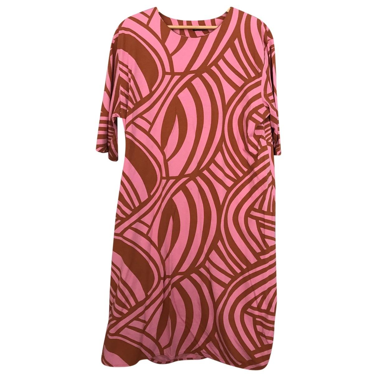 Marimekko \N Kleid in  Rosa Baumwolle
