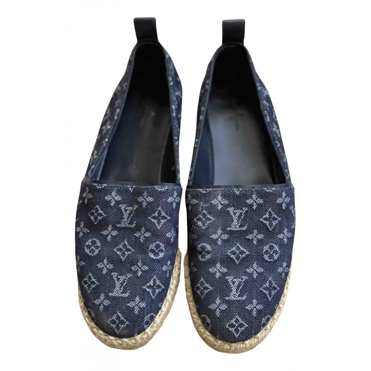 Louis Vuitton - Espadrilles   pour femme en denim - marine