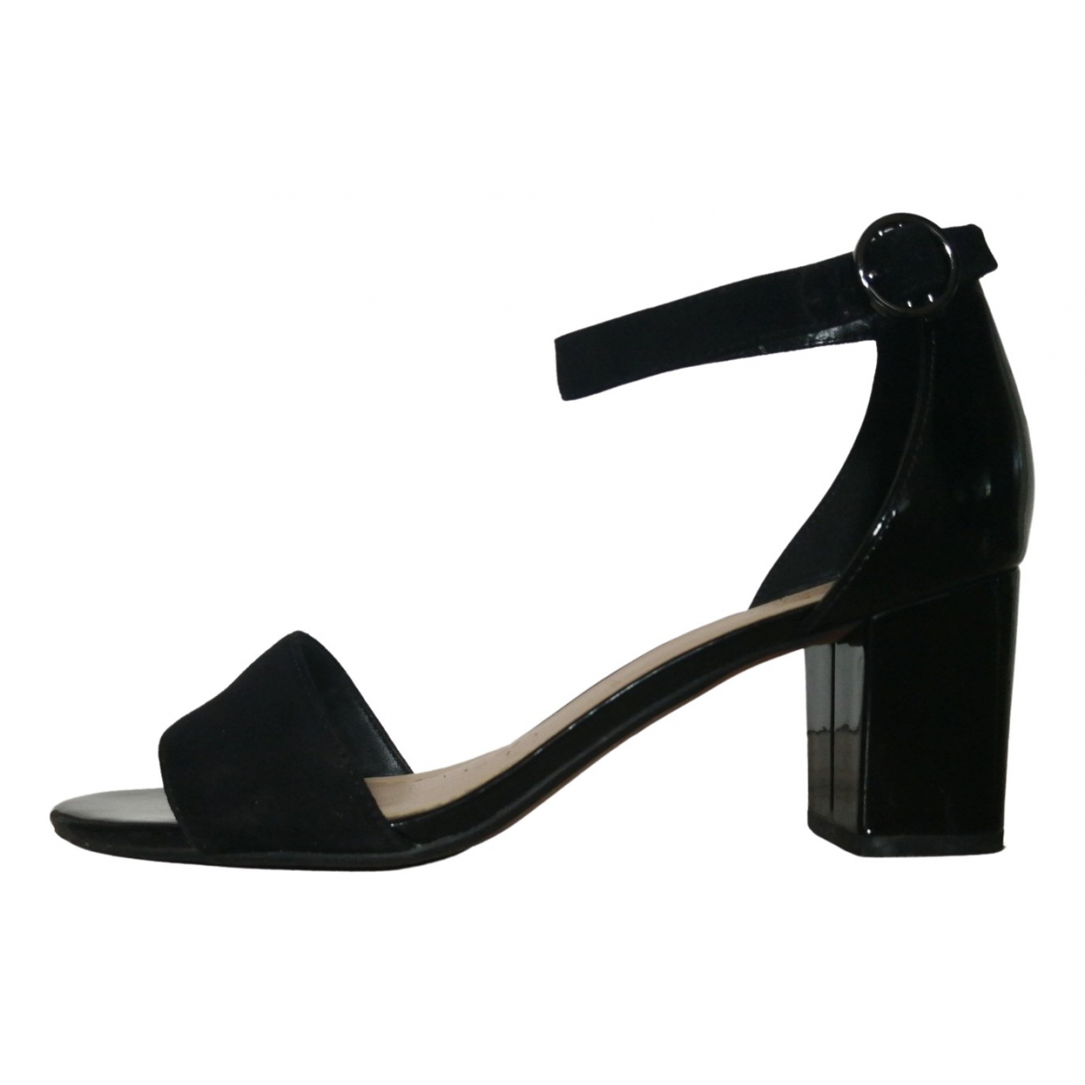Clarks \N Black Leather Heels for Women 39.5 EU