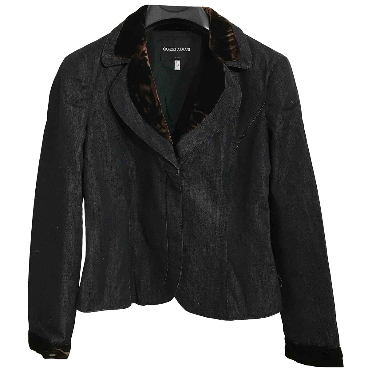 Giorgio Armani \N Blue Cotton jacket for Women 40 IT