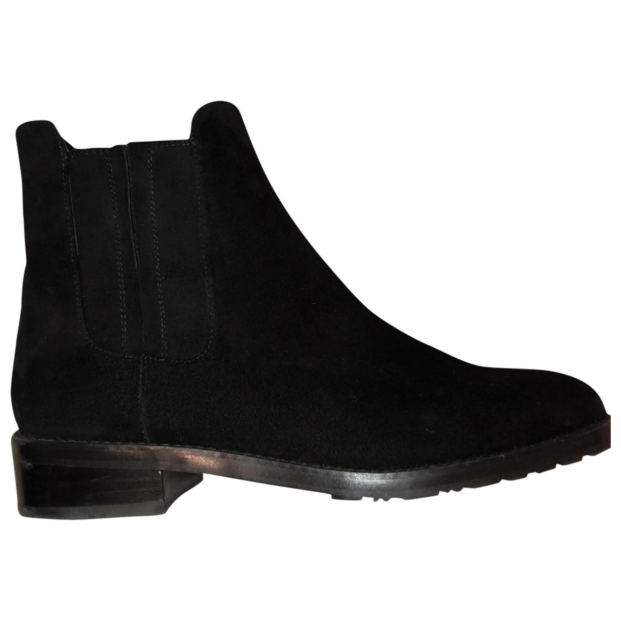 Stuart Weitzman \N Black Suede Ankle boots for Women 37.5 EU