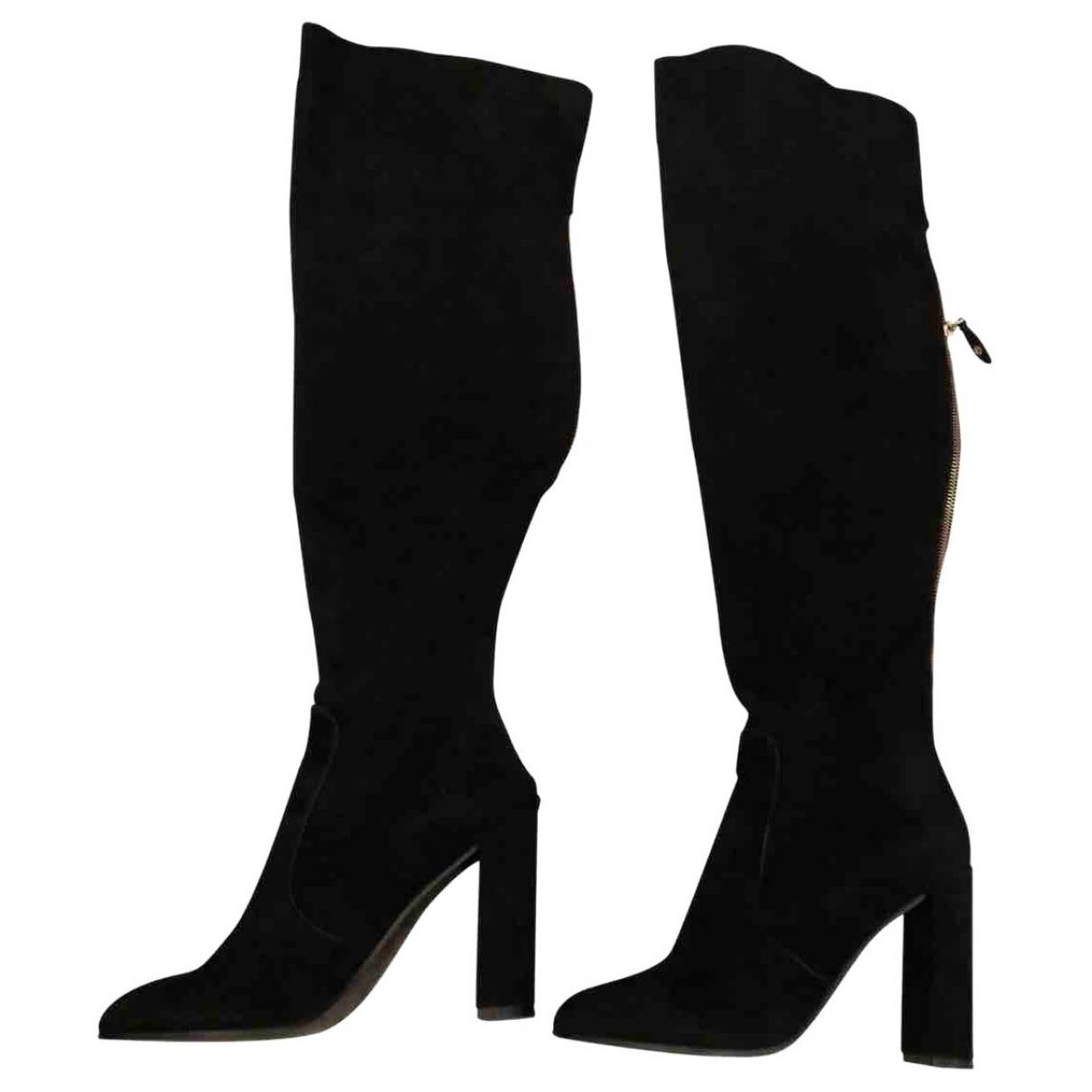 Louis Vuitton \N Black Suede Boots for Women 37 EU