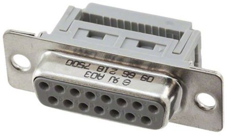 HARTING , D-Sub Standard 2.77mm Pitch 15 Way IDC D-sub Connector, Socket