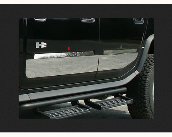 Quality Automotive Accessories 4-Piece Door Insert Trim Hummer H2 2006