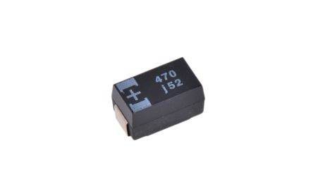 Panasonic Tantalum Capacitor 470μF 6.3V dc Polymer Solid ±20% Tolerance , POSCAP TH (2)