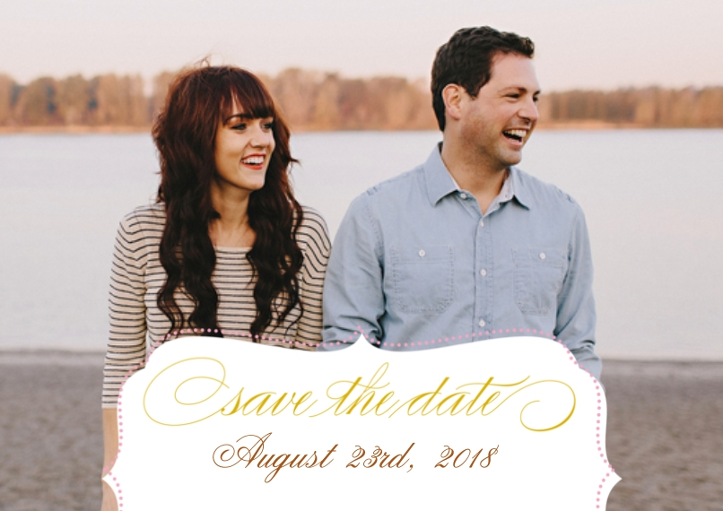 Save the Date 5x7 Cards, Premium Cardstock 120lb with Elegant Corners, Card & Stationery -Posh Paper Save The Date Sophisticate