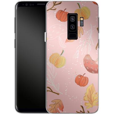 Samsung Galaxy S9 Plus Silikon Handyhuelle - Foliage Pink Woodland von Mukta Lata Barua